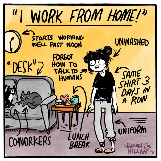 A Totally Serious Survival Guide To Working From Home Huddle
